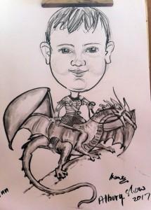 Albury Show riding dragon