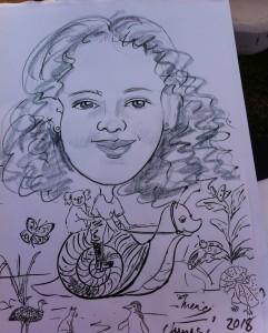 Clunes riding a snail