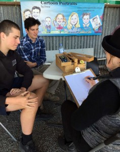 drawing at the Murtoa Show