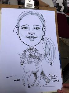 Unicorn rider girl
